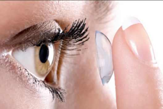 Contaminated eye contacts can cause excess and stringy eye mucus