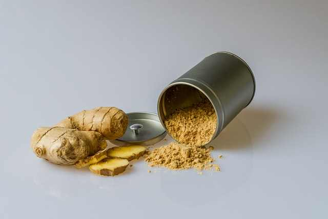 Ginger helps to stop dry heaving