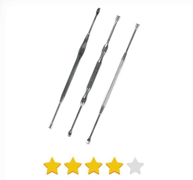Mudder 3 Pieces Ear Pick Ear Cleaner, 304 Stainless Steel