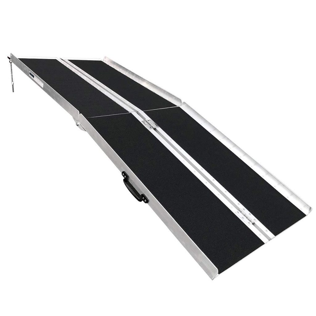 Clevr 6' (72 X 31) Extra Wide Non-Skid Aluminum Wheelchair Adjustable Ramp