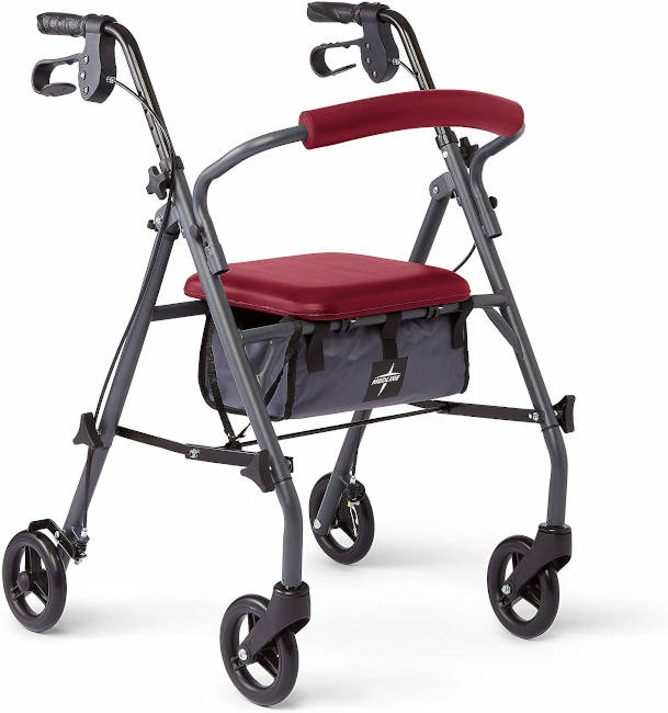Medline Rollator Walker with Seat