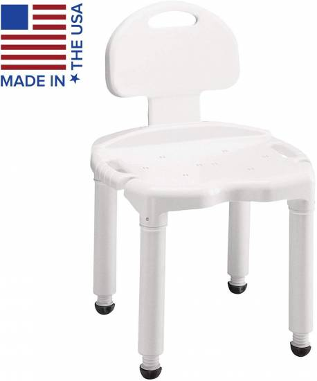 Carex Bath Seat And Shower Chair With Back For Seniors, Elderly, Disabled, Handicap